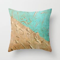 Copper Rain Throw Pillow by Lisa Argyropoulos - $20.00