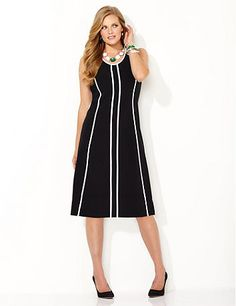 dbe55b5ada3 Slim Line Shift Dress. Plus Size Work DressesCatherines ...