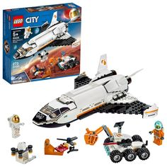 Talan's bday - LEGO City Space Mars Research Shuttle 60226 Space Shuttle Toy Building Kit with Mars Rover and Astronaut Minifigures, Top STEM Toy for Boys and Girls Pieces): Toys & Games Lego City Space, Lego City Sets, Lego Space Sets, Building Sets For Kids, Building Toys, Lego Sets For Boys, Cool Toys For Boys, Legos, Nasa