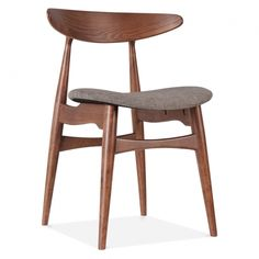 George Oliver The Scarlett Solid Wood Dining Chair will make a bold statement in your kitchen, dining room or home office space. The sleek wooden frame has a rounded, upholstered seat padded with comfortable foam for you to sit. Solid Wood Dining Chairs, Upholstered Dining Chairs, Dining Chair Set, Living Room Chairs, Wooden Chairs, Desk Chair, Chaise Restaurant, Restaurant Seating, Coin Palette