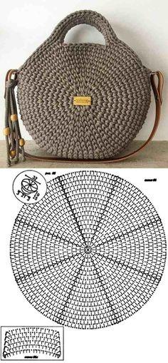 Make and profit: 26 models of crochet bag with graphic - 26 Beautiful Crochet B. - Make and profit: 26 models of crochet bag with graphic – 26 Beautiful Crochet B… Make and profit: 26 models of crochet bag with graphic – 26 Beautiful Crochet B…, Bag Crochet, Crochet Handbags, Crochet Purses, Crochet Motif, Crochet Clothes, Crochet Baby, Crochet Patterns, Crochet Designs, Knit Bag