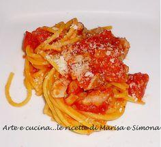 Arte e cucina...le ricette di Marisa e Simona: Spaghetti all'amatriciana