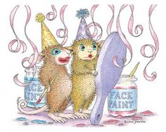 """Maxwell & Amanda featured on The Daily Squeek® for Aug. 23rd, 2014. Click on the image to see it on a bunch of really """"Mice"""" products."""