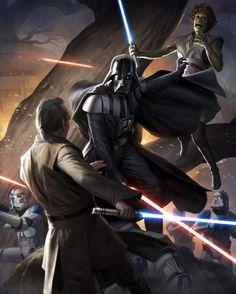 Rise of Darth Vader scene by Darren Tan