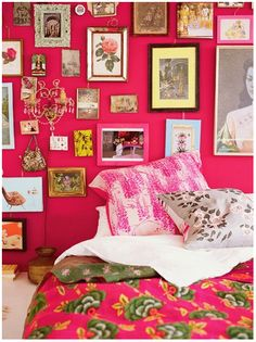 pink room with pink WALLS