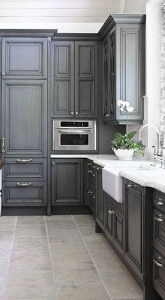 ♅ Dove Gray Home Decor ♅  grey kitchen