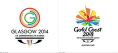2018 Commonwealth Games Logo, Before and After