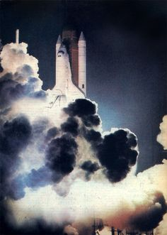 First launch of the Challenger, 4 April 1983. STS-6 was the sixth space shuttle mission and the first of the ten missions flown on Challenger.