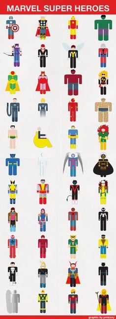 Marvel Super Hero icons created for comic book box labels #marvel #illustrator