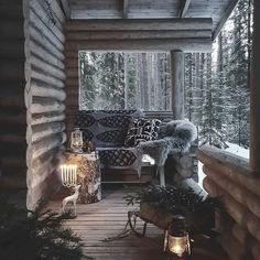 Sharing my obsessive love of rustic cabin life through photos and art I have collected. Winter Cabin, Cozy Cabin, Cozy House, Winter House, Winter Garden, Cabin Homes, Log Homes, Cabin In The Woods, Interior And Exterior