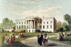 White House History Timeline with few pictures and historical information about White House through the years by Historical Society of Washington, D. White House Usa, Dc Vibe, White House Washington Dc, American Mansions, Old Cabins, Facade House, House Facades, Historic Homes, White Paints
