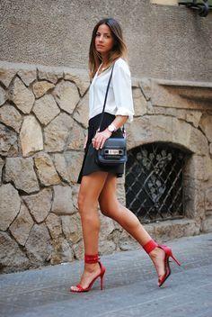 Fashion Vibe - Sandalias de tacón Adriana boa roja Mas34 www.mas34shop.com