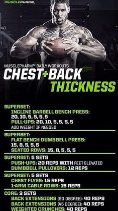 Chest and Back Workout Chest And Back Workout, Shoulder Workout, Weight Training Workouts, Body Weight Training, Chest Workouts, Gym Workouts, Swimming Workouts, Swimming Tips, Musclepharm Workouts