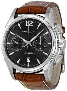 seiko sndc31p1 men s chronograph leather strap watch watches hamilton men s h32606585 american classic jazzmaster automatic watch