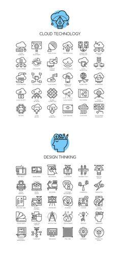 CONCEPT LINE ICONS on Behance Line Design, Icon Design, Sketch Notes, Badge Design, Line Illustration, Line Icon, Design Thinking, Design Reference, Graphic Design Inspiration