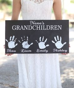Another great find on #zulily! DIY 'Grandchildren' Personalized Wall Sign #zulilyfinds