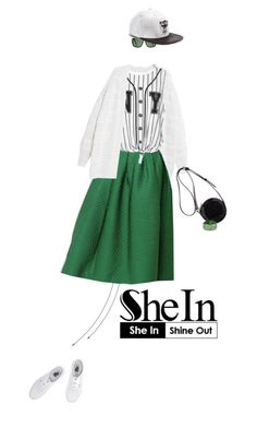 """""""Shein: Green Plaid Skirt"""" by missioppa ❤ liked on Polyvore featuring мода, Violeta by Mango, Vans, 3.1 Phillip Lim, JUST DON и Mark Davis"""