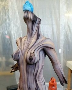 'Wood' Sculptures that are Actually Made of Ceramic - Art People Gallery Tree Carving, Wood Carving, Different Kinds Of Art, Art Sculpture, Wall Sculptures, Plastic Art, Art Carved, Oeuvre D'art, Ceramic Art