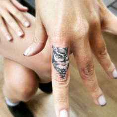 small owl finger tattoo #ink #youqueen #girly #tattoos