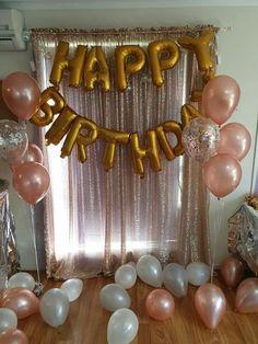 Birthday Photo Booth Background- Birthday Photo Booth Background- … - Un. 15th Birthday Party Ideas, 21st Birthday Decorations, Birthday Goals, Gold Birthday Party, Birthday Backdrop, Golden Birthday, 14th Birthday, Birthday Balloons, Backdrop Wedding