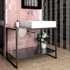 Artisan Rose Mallow, Graphite 13,2x13,2 cm / deco Lunas 13,2x13,2 cm - альтернатива миксу за раковиной и ванной