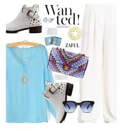 """Zaful.com: Wanted star!!"" by hamaly ❤ liked on Polyvore featuring Chanel, Skagen, Marc by Marc Jacobs, Vera Bradley, Lara Bohinc, women's clothing, women, female, woman and misses"