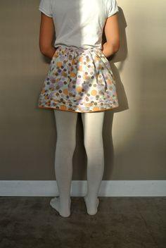Young Girl Fashion, White Tights, Skater Skirt, Socks, Skirts, Poplin, Make A Skirt, Cotton, Kids Clothing Girls