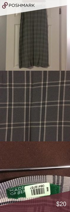 United Colors of Benetton A-line plaid skirt. 42EU In great condition. Falls to calf line. Black and white plaid. United Colors Of Benetton Skirts Maxi
