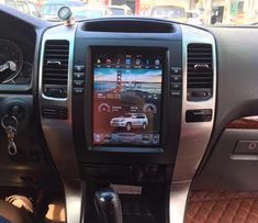 "10.4"" Tesla-style Vertical Screen Android Navigation Radio for 2003-2009 Lexus GX470, Toyota Land Cruiser Prado"