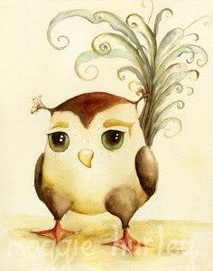 owl nursery picture.... dont really like his tail feathers, but cute still