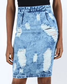 AD by Agbani Darego denim skirt. Inspired by one of the most beautiful women in the worldWomen's Clothing - Buy Clothes Online | Pay on Delivery | Jumia Nigeria