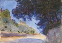 """Paper Images,   John Singer Sargent, """"Olive tree, Corfu, Greece"""""""