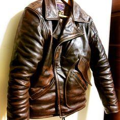 ELMC Windward Horsehide motorcycle jacket, made in England #eastmanleather #elmc #windward #horsehide #madeinengland