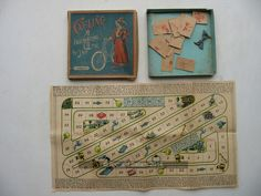 An example of the game Cycling with pictures, Name Games, Vintage Games, Small Boxes, Wooden Boxes, Cycling, Pictures, Games, Little Boxes, Wood Boxes