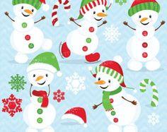 winter cliparts – Etsy