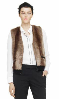 Natasha Faux Fur Vest - Club Monaco Jackets & Outerwear - Club Monaco