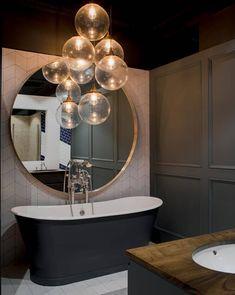 Bathroom Pendant Lighting, Bathroom Ceiling Light, Bedroom Lighting, Bathroom Lighting Design, Bathroom Light Fixtures, Industrial Bathroom, Ceiling Lights, Ceiling Pendant, Pendant Lights