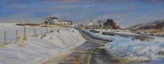 Snowdrifts by Graham Clark, Watercolour & Pastel