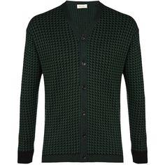 Marni Jacquard Triangle Pattern Cardigan ($745) via Polyvore