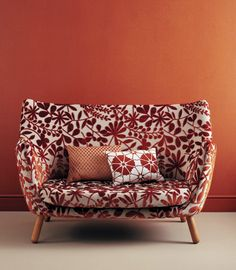Love the pattern and colors.  Reminds me of Heather's chair, if it underwent a makeover.