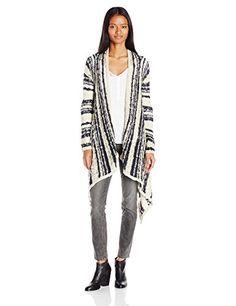 O'Neill Women's Riku Stripe Cardigan Sweater - http://www.darrenblogs.com/2016/11/oneill-womens-riku-stripe-cardigan-sweater/