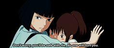 Spirited Away. I love how protective Haku is over Chihiro <3 sooo cute!