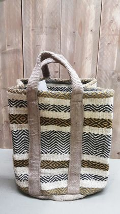 Sturdy Solid Jute Basket for firewood