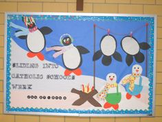 Sliding into Catholic School's Week.  Great fun to make and a needed cheer during those long winter months!
