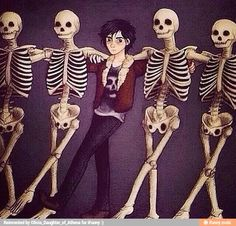 Nico I'm telling Father! Didn't he say no partying with the skeletons anymore?!