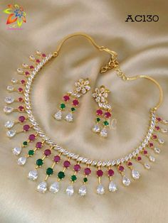 Gold Jewelry Making Arabic Jewelry, Gold Temple Jewellery, Gold Jewellery Design, Ruby Jewelry, India Jewelry, Jewelery, Indian Wedding Jewelry, Bridal Jewelry, Simple Necklace Designs