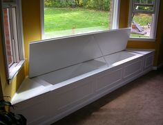 window seat storage for dining room