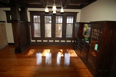Restored dining room in Craftsman Bungalow