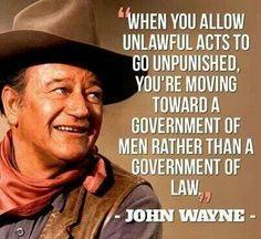 Well said John Wayne and I'm afraid we didn't listen to you...
