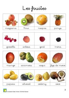 LLIBREt Vocabulari bàsic - Emilia Alcaraz Montessori, Healthy Prepared Meals, Healthy Food, Catalan Language, French Alphabet, Food Vocabulary, French Language Lessons, French Expressions, Lectures